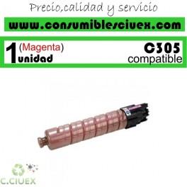 RICOH AFICIO MP-C305/MP-C305SPF MAGENTA CARTUCHO DE TONER GENERICO 842081/841596/MPC305E