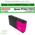 EPSON T7563/T7553 MAGENTA CARTUCHO DE TINTA PIGMENTADA GENERICO C13T756340/C13T755340