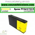 EPSON T7564/T7554 AMARILLO CARTUCHO DE TINTA PIGMENTADA GENERICO C13T756440/C13T755440