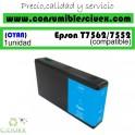 EPSON T7562/T7552 CYAN CARTUCHO DE TINTA PIGMENTADA GENERICO C13T756240/C13T755240