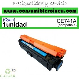 TONER COMPATIBLE HP CE741A CYAN