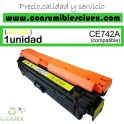 TONER COMPATIBLE HP CE742A AMARILLO