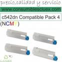 PACK 4 TONER OKI NCMY OKI C532DN/C542DN/MC573DN/MC563DN