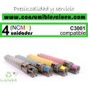 RICOH AFICIO MP-C3001/MP-C3501 AMARILLO CARTUCHO DE TONER GENERICO 842044/841425