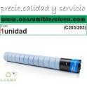 KONICA MINOLTA BIZHUB C221/C221S/C281 CYAN CARTUCHO DE TONER GENERICO A33K480/TN-220C
