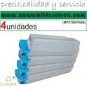 PACK 4 OKI MC760/MC770/MC780 NEGRO CARTUCHO DE TONER GENERICO 45396304