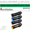 PACK 4 XEROX PHASER 6510/WORKCENTRE 6515 NEGRO CARTUCHO DE TONER GENERICO 106R03480/106R03476