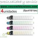 PACK 4 UNIDADES RICOH AFICIO SP-C410DN/SP-C411DN/TYPE 245 NEGRO CARTUCHO DE TONER GENERICO 888312