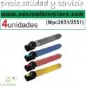 PACK 4 RICOH AFICIO MPC2051/2551 NCMY COMPATIBLE