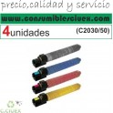 PACK 4 TONER NCMY RICOH C2050 COMPATIBLE PARA IMPRESORAS RICOH MP C2030/C2050/C2530/C2550
