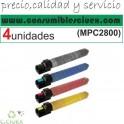 PACK 4 UNIDADES RICOH AFICIO C2800 BK