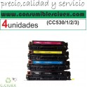 PACK 4 TONER COMPATIBLE HP CC530A/1A/2A/3A A ELEGIR COLOR (SUPER PRECIO)