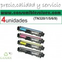 PACK 4 TONER COMPATIBLE BROTHER TN 320/1/5/6/9 COMPATIBLE(SUPER PRECIO)