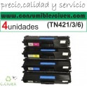 PACK TONER COMPATIBLE BROTHER TN421/3/6 NCMY(SUPER PRECIO)