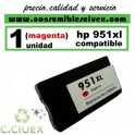 CARTUCHO HP 951XL MAGENTA REMANUFACTURADO