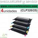 PACK 4 NCMY SAMSUNG CLP320/325 COMPATIBLE (SUPER PRECIO)