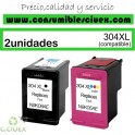 PACK 2 TINTA COMPATIBLE HP 304XL