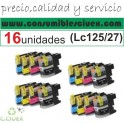 PACK 16 CARTUCHOS BROTHER LC125 LC127 COMPATIBLE A ELEGIR COLOR(SUPER PRECIO)