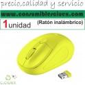 Raton Inalambrico USB 1600dpi 8m Amarillo