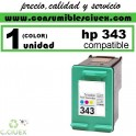 CARTUCHO DE TINTA HP 343 COMPATIBLE / REMANUFACTURADO