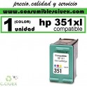 CARTUCHO DE TINTA HP 351XL COMPATIBLE /  REMANUFACTURADO