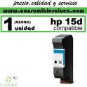 CARTUCHO DE TINTA HP 15 (40ML.) COMPATIBLE / REMANUFACTURADO